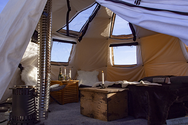 Arctic lavvu glamping in Luleå - NordGuide
